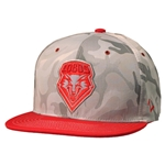 Men's Zephyr Cap UNM Shield Camo Red