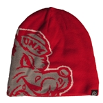 Zephyr Beanie Old School Louie Lobo Red