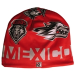 The Game Beanie UNM Shield & Side Wolf New Mexico Red