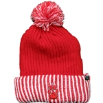 Zephyr Beanie UNM Paw With Pom Red