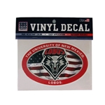 SDS Decal American Flag & UNM Shield 6""