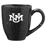 LXG Mug UNM Interlocking Logo Speckled Black