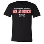 Men's CI Sport T-Shirt The University Of New Mexico Med Lab Sciences UNM Interlocking Black