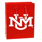 R&D Small Gift Bag UNM Interlocking Logo Red