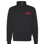 Men's Russell 1/4 Zip New Mexico 1889 Lobos Black
