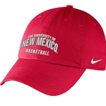 Nike Cap University of New Mexico Basketball Red
