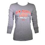 Women's Under Armour Long Sleeve T-Shirt New Mexico Lobos Heather