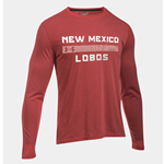 Men's Under Armour Long Sleeve T-Shirt New Mexico Lobos Red