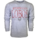 Men's CI Sport Long Sleeve T-Shirt University of New Mexico Lobos & Shield Grey