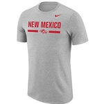 Men's Nike T-Shirt New Mexico & Side Wolf Heather
