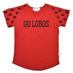 Toddler Third Street T-Shirt Go Lobos & Lobo Paws Red