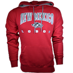 Men's Colosseum Hood New Mexico Lobos & Side Wolf Red