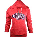 Women's Colosseum Hood Side Wolf Red
