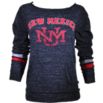 Women's Colosseum Pullover New Mexico & UNM Logo Charcoal