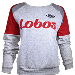 Women's Colosseum Pullover Lobos & Side Wolf Gray