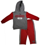 Toddler Colosseum Hood W/Pant Set New Mexico Lobos Side Wolf Gray/Red
