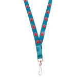 Neil Lanyard UNM Stripes Red