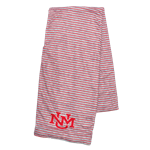 League Scarf UNM Logo Stripes Heather/Red