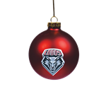UNM Holiday Ornament Lobo Shield Red