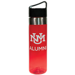 R&D Water Bottle 20oz UNM Logo Alumni Red