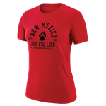 S Women's Nike T-shirt NM Paw Lobo For Life ABQ Red
