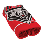 "Logo Sweatshirt Blanket 54"" x 84"" Lobo Shield Red"