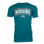 Men's CI Sport T-shirt UNM Nursing Side Wolf Teal