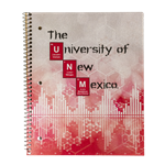 ROA 1 Subject Spiral Notebook UNM Chemistry Design Red