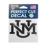 Perfect Cut Decal UNM Interlocking Metallic