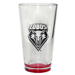 Neil Pint Glass Lobo Shield