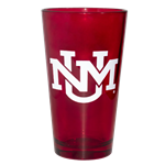 Neil Pint Glass UNM Interlocking Red