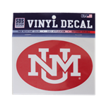 SDS Decal UNM Interlocking Red 6""