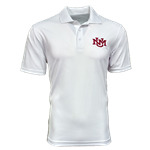 Men's Sport Polo UNM Interlocking White