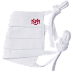 Reusable Cloth Face Mask UNM Interlocking White