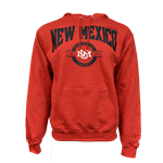 Men's Champion Hood NM Lobos Est 1889 Interlocking Red