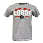 Men's CI Sport T-shirt NM Lobos Side Wolf Heather