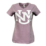 Women's CIS T-Shirt UNM Interlocking Lavander & Gray