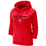 Women's Nike Fleece Hood NM Lobos Shield Red