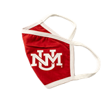Reusable Cloth Face Mask UNM Interlocking Red
