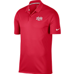 Men's Nike Polo UNM Interlocking Red