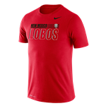 Men's Nike T-Shirt NM Lobos Lobo Shield Red