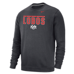 "Men's Nike Crew ""We Are NM"" Lobos UNM Interlocking Charcoal"