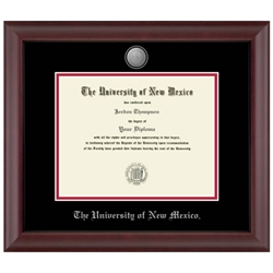 Pewter Cambridge Diploma Frame w/ Silver Accents for Doctorate