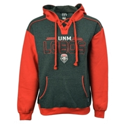 Men's CI Sport Sweatshirt UNM Lobos Shield Gray/Red