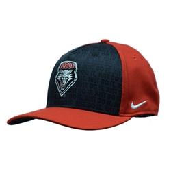 UNM Bookstore - Nike Cap UNM Shield Flex Fit Black   Red 42624ba23ac