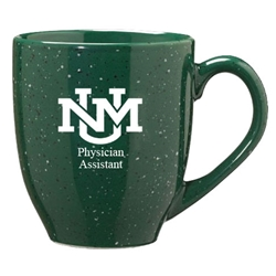 LXG Coffee Mug Physician Assistant UNM Interlocking Logo Speckled Green