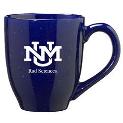 LXG Coffee Mug Rad Sciences UNM Interlocking Logo Navy Blue
