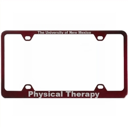 LXG License Plate Frame UNM Physical Therapy
