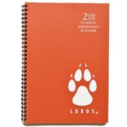 Unm Bookstore Unm Academic Weekly Planner 2018 2019 Lobos Paw