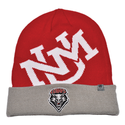 Top of the World Beanie Lobos Shield Logo Red